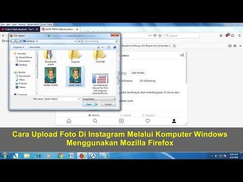 Cara upload photo maupun video instagram menggunakan pc atau laptop dengan mudah, kadang banyak file.