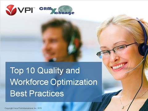 Top 10 Call Center QA & Workforce Optimization Best Practices Webinar by VPI