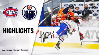 NHL Highlights | Canadiens @ Oilers 01/16/21