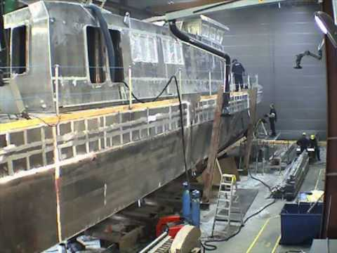 Production of a 25 m monohull offshore service vessel.