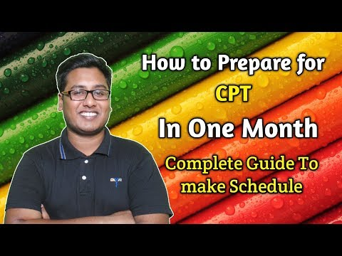 CA CPT How to Prepare in One Month For June 2018 Attempt
