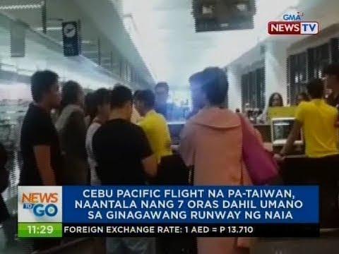 NTG: Cebu Pacific flight na pa-Taiwan, naantala ng 7 oras dahil umano sa ginagawang runway ng NAIA
