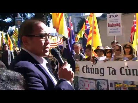 Vietnamese Community in Australia protested at vc consulate in Sydney 14 May 2016
