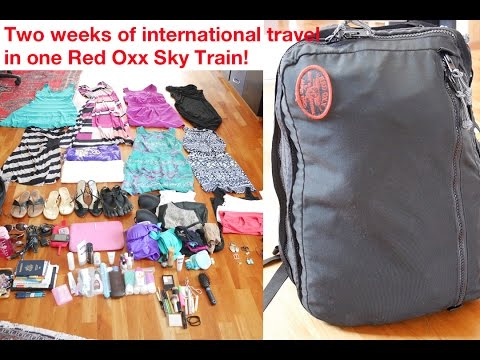 Two Week International Travel in 1 Red Oxx Bag!
