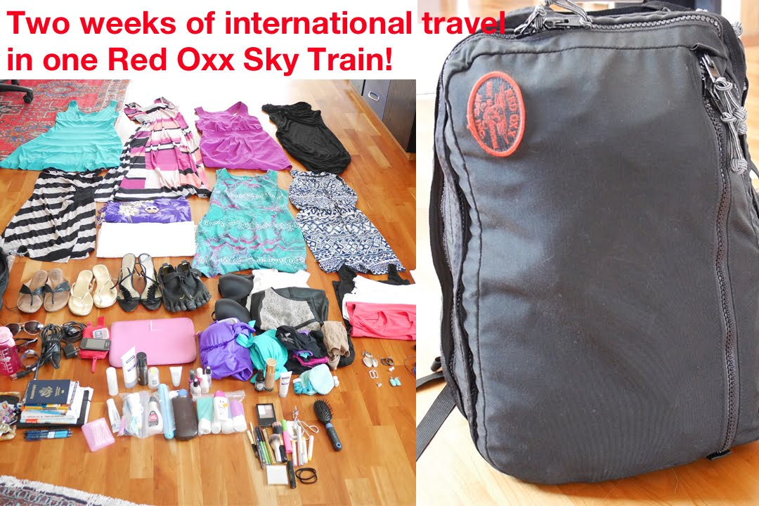 cf1e17e326a1 Two Week International Travel in 1 Red Oxx Bag! - YouTube