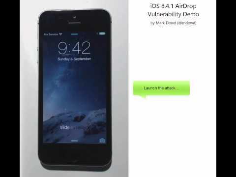 iOS 8.4.1 AirDrop Exploit Demo