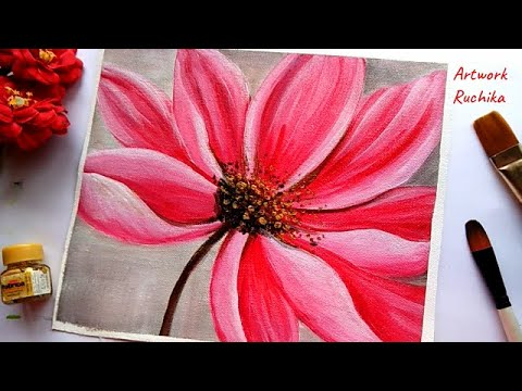 Beautiful Flower Painting A Big Flower Painting Acrylic