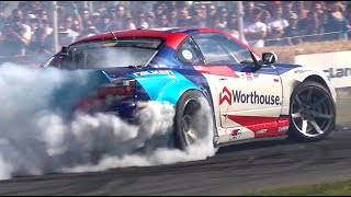 BEST of DRIFTING at Goodwood FOS 2019! - HKS Supra A90, James Deane 2JZ E92, Mad Mike Lambo & More!