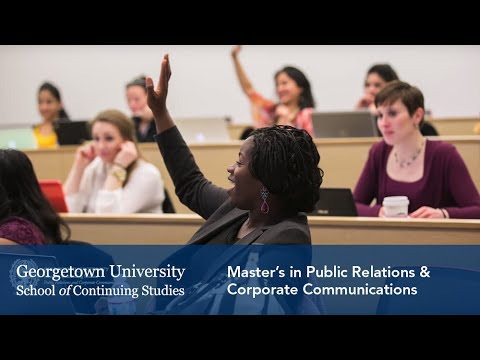 Master's in Public Relations & Corporate Communications at Georgetown University