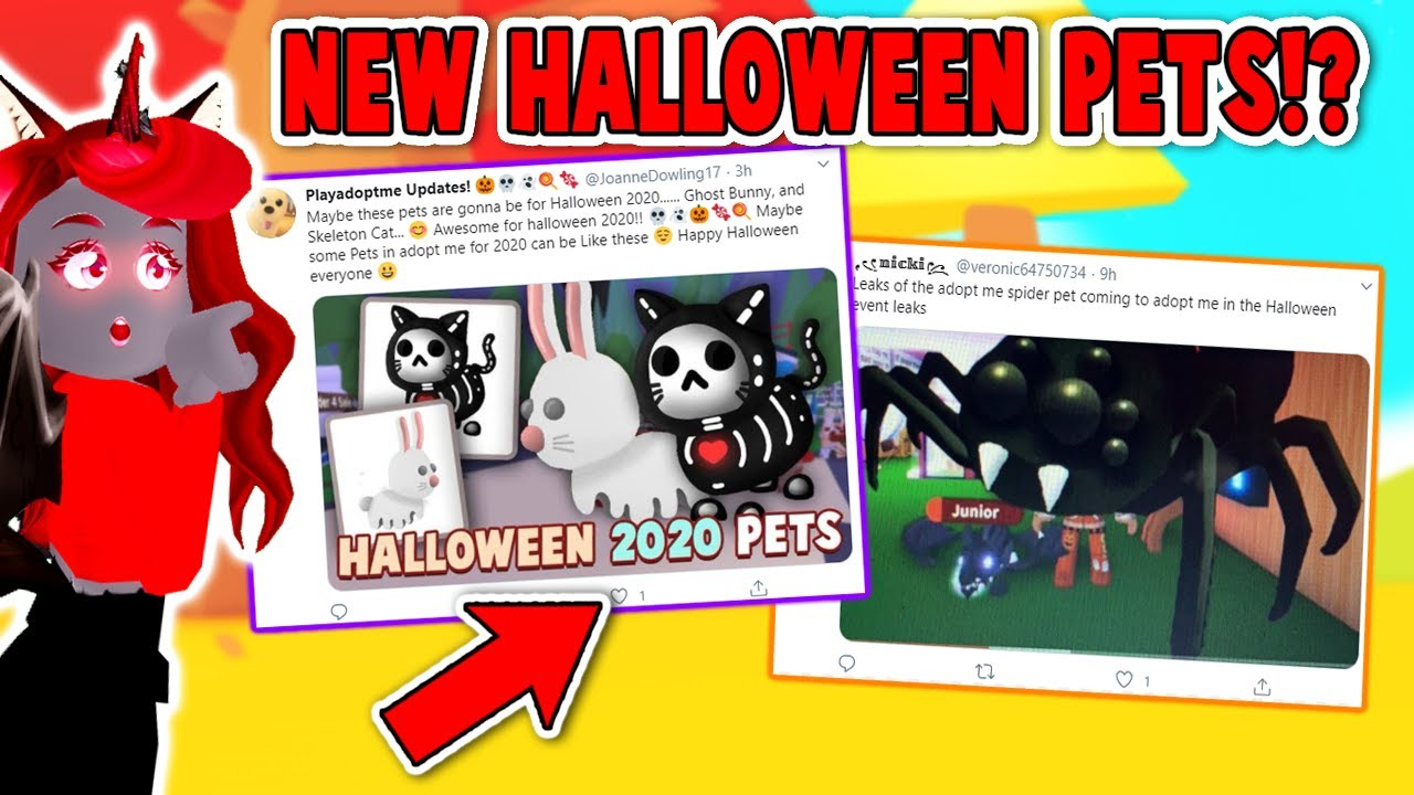 2020 Halloween Pets Coming To Adopt Me Roblox Youtube