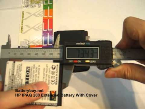 HP IPAQ 200 212 214 216 Extended Battery With Cover