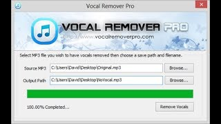 How to Remove Vocals from any song