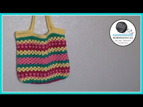Crochet Beach Bag Tutorial
