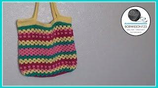 Crochet Beach Bag Tutorial