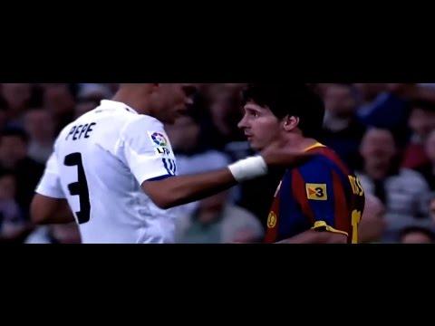 Lionel Messi Destroying Real Madrid Horror Tackles vs him, Revenge, Defensive Skills Part 2   HD  