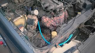 Mazda 929 hc Установка топливной магистрали.