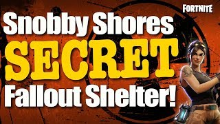 Fortnite Battle Royale: New Secret Chest Location - Snobby Shores Hidden Shelter (Fortnite BR)
