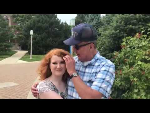 Colorblind man sees granddaughter's red hair with Enchroma glasses