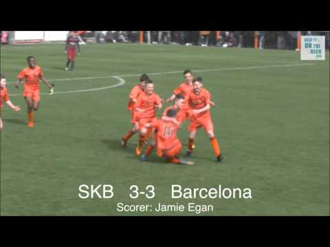 St Kevins Boys vs FC Barcelona - Academy Cup Final 2016