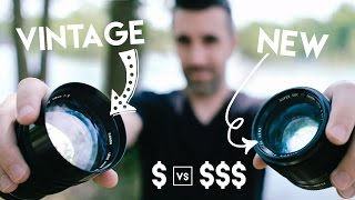 Video VINTAGE $100 Lens vs NEW $1000 Lens! Using CHEAPER Film Lenses with DSLR's and Mirrorless Cameras download MP3, 3GP, MP4, WEBM, AVI, FLV Juli 2018