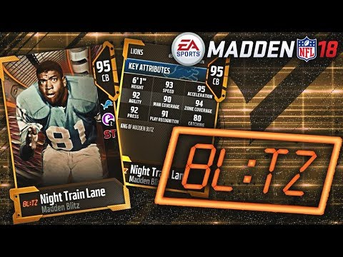 Blitz Promo! 60,000 Madden Points! Night Train Lane & Limited Players! Madden 18 NFL