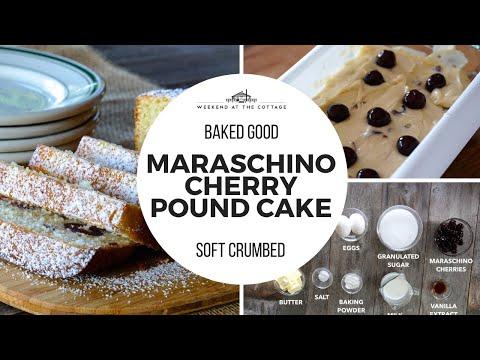 This MARASCHINO CHERRY POUND CAKE is scrumptious!