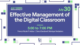 Effective Management of the Digital Classroom: Classroom Management Tips, Strategies and Tools