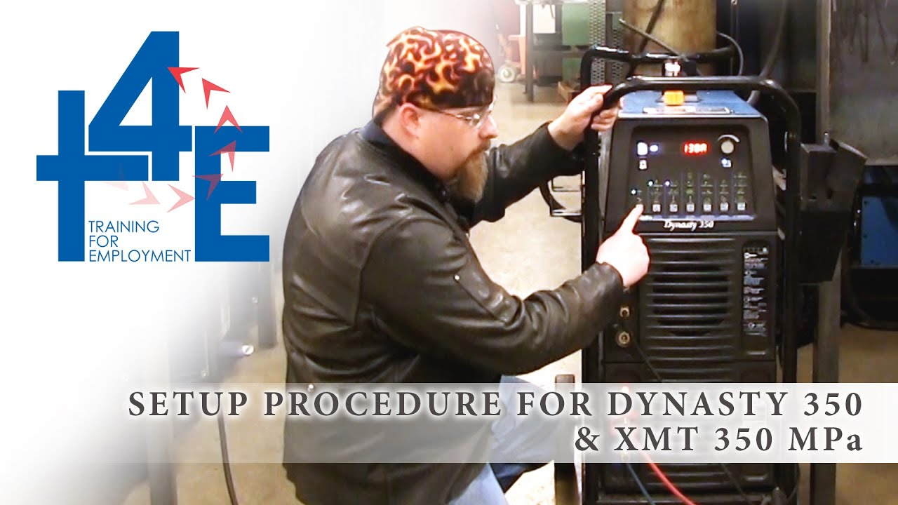T4e Setup Procedure Of Dynasty 350 And Xmt Mpa Smaw Youtube Miller 3 Wire Diagram