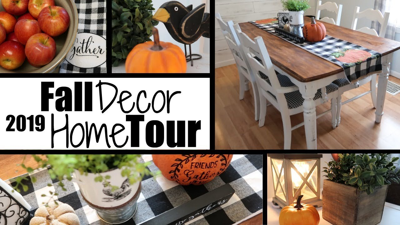 These easy fall decorating ideas will make your home look cozy and festive this autumn. *NEW* FALL DECOR HOME TOUR / FARMHOUSE FALL DECOR / FALL ...