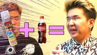コーラとヘリウムを同時に飲んでかわいいゲップを出す!!
