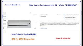 Blue Star 1.5 Ton Inverter Split AC - White  (CNHW18RAF)