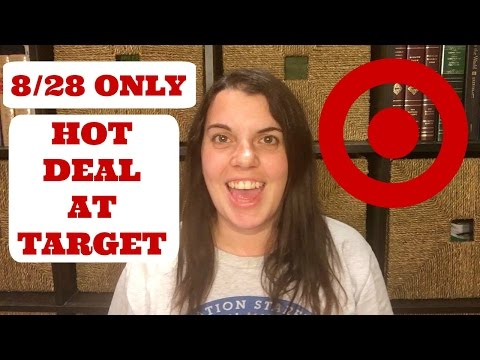 Target 8/28 ONLY Hot Deal