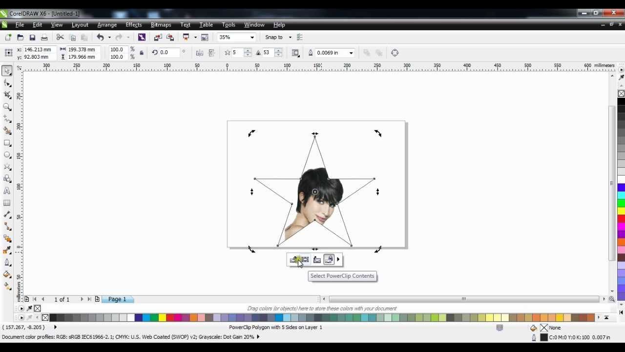 Corel Draw Tutorials On How To Mask In Photos Into A Shape Youtube