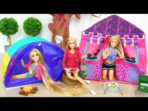 Barbie Doll Camping Tent Gear Playset boneka Barbie berkemah Tenda Boneca Barraca de Acampamento