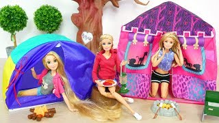 Barbie Doll Camping Tent Gear Playset boneka Barbie berkemah Tenda Boneca Barraca de Acampamento