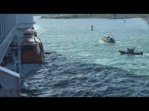 Thumbnail: Carnival Magic nearly misses jet skiers Part 2.