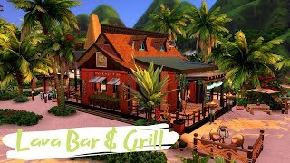The Sims 4 || Speed Build || Lava Bar & Grill