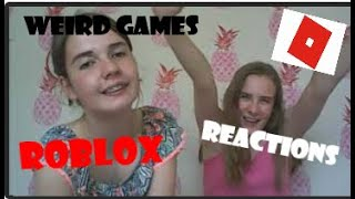 Reacting to Weird Games on ROBLOX!!!!! | Part 1