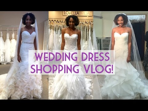 Wedding Dress Shopping VLOG! | BiancaReneeToday