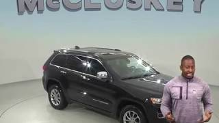 A98617GT Used 2015 Jeep Grand Cherokee Limited 4WD Black Test Drive, Review, For Sale -