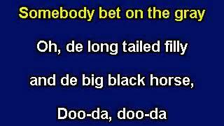 Camptown Races Karaoke video with lyrics Instrumental version