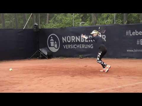 Genie Bouchard practicing @ Nürnberger Versicherungs Cup [20/5/17] feat. Thomas Högstedt