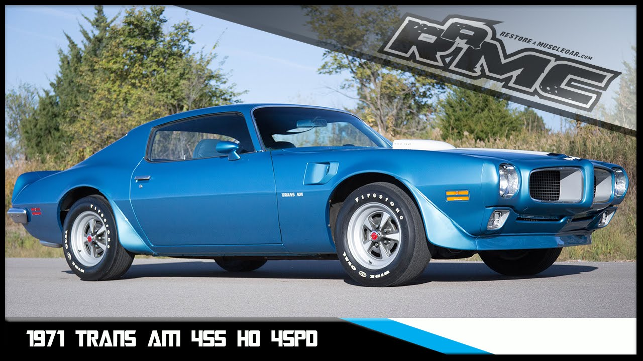 Muscle Car Decals >> 1971 Trans Am For Sale - YouTube