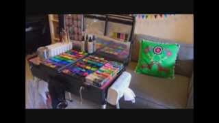 Setting Up The New Craft n Go Paint Station; Lenore Koppleman