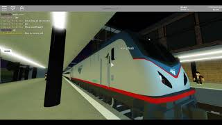 Railfanning Amtrak, NJ Transit and other Trains at Alyard East (Terminal Railway Roblox)