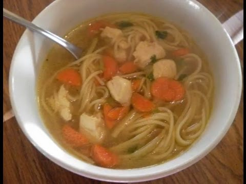 CHICKEN NOODLE SOUP RECIPE- EASY FOR KIDS TO MAKE ALSO