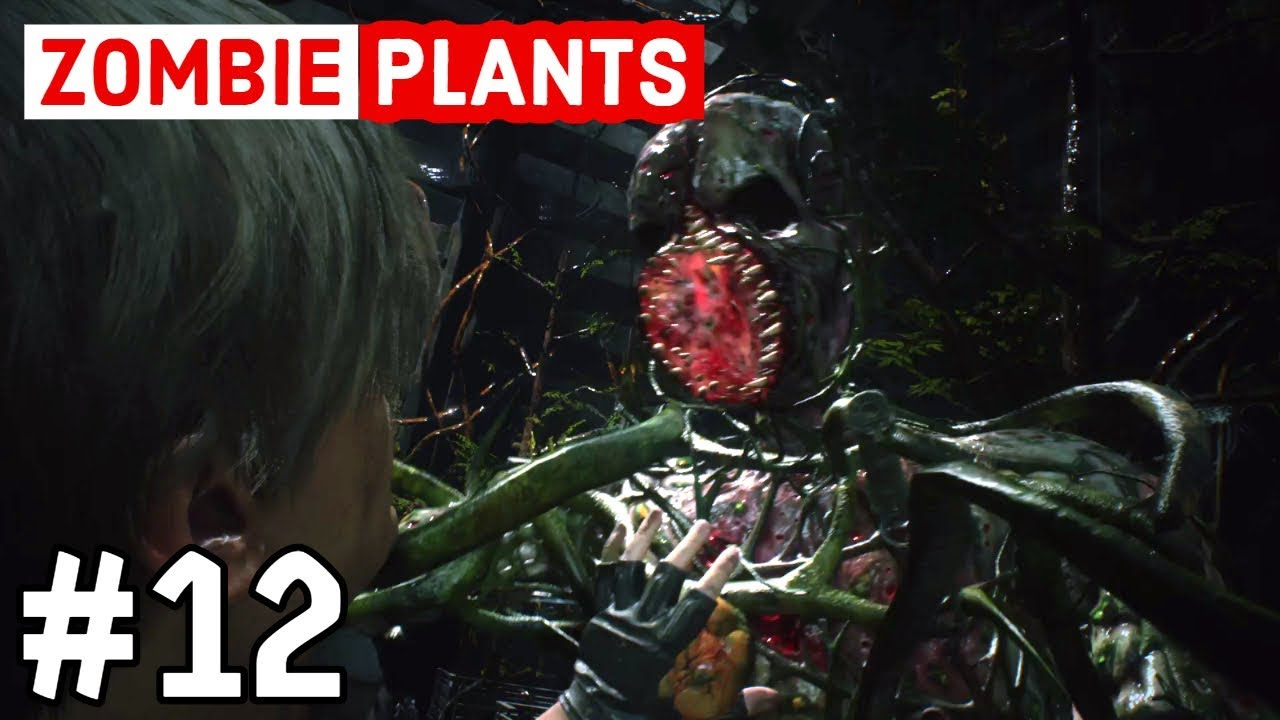 Resident Evil 2 Remake Part 12 Zombie Plants Re2 Leon Youtube