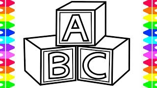 How to draw ABC Toys for Baby Coloring Pages and Drawing for Kids