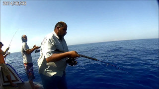 Jigging Egypt- Rayes Samy ElWay-Amberjack jigging from 150 m- Hurghada Redsea- May 2017