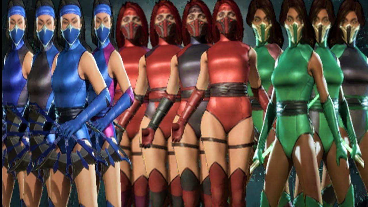 Mortal Kombat 11 All New 12 Klassic Female Ninja Skins Showcase